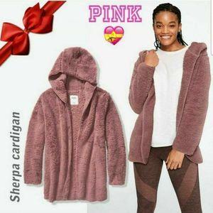 Pink Victoria's secret cardigan sherpa New m\L
